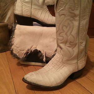 🖤👢BONANZA Alligator & Leather cowboy boots